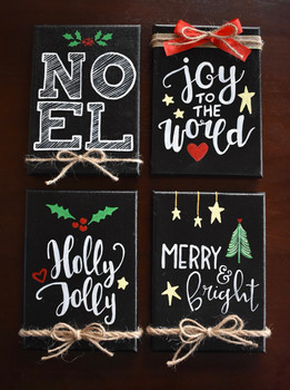 "5x7"" Holiday Canvases"