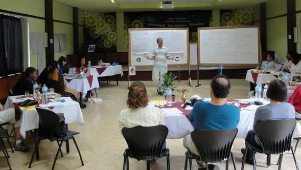 debendra with International participants