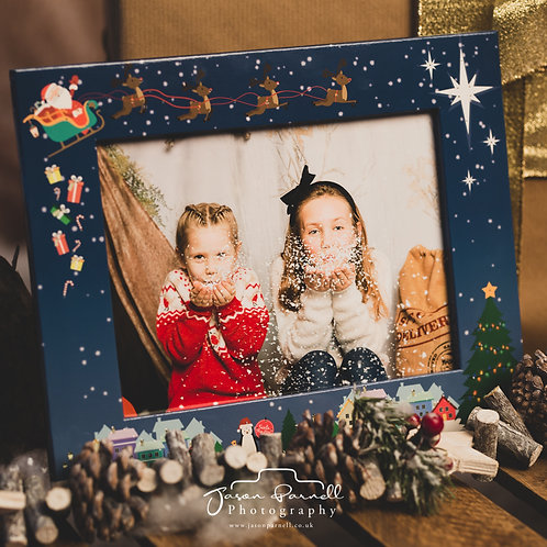 6x8 Light Up Christmas Photo Frame with Your Photo