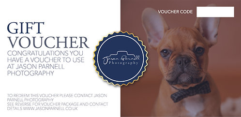 Pet Studio Shoot Gift Voucher