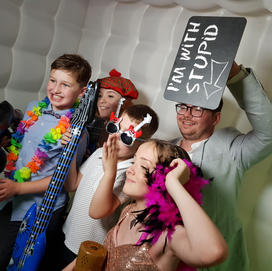 The Photo Booth Mansfield Hire Led Inflatable Booth Inside