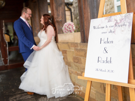 Wedding of Helen & Radek Szpila at Peak Edge Hotel, Chesterfield March 2020