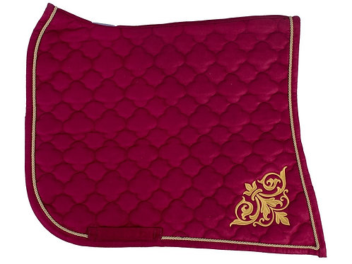Saddle Pad - Baroque Red