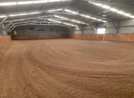 Arena floor being redone with synthetic fibre