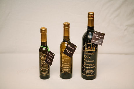 3 Different Sizes of Fresh Olive Oil & Vinegar Available