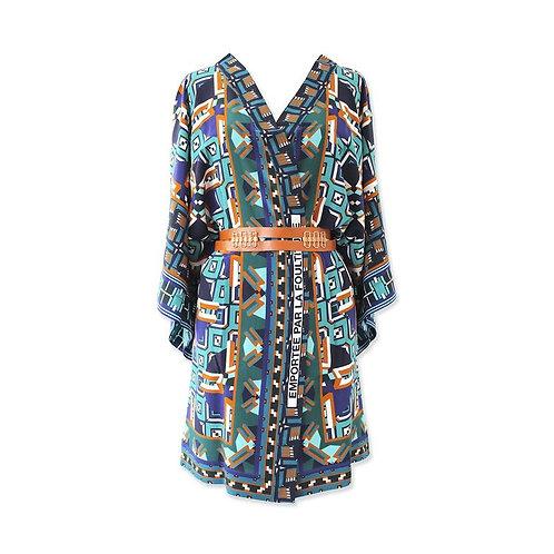 """Kimono en soie """"Emportée par la foulitude"""""""