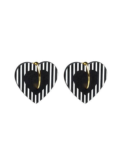 Boucles d'oreilles Coeur XL