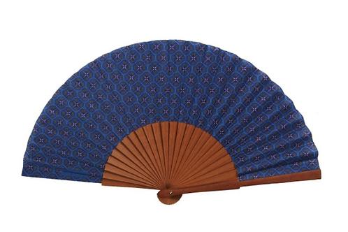 Eventail Lotus bleu