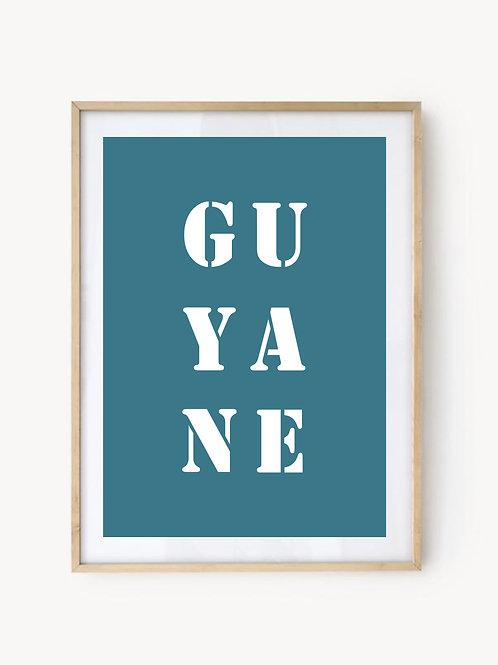 Affiche Guyane