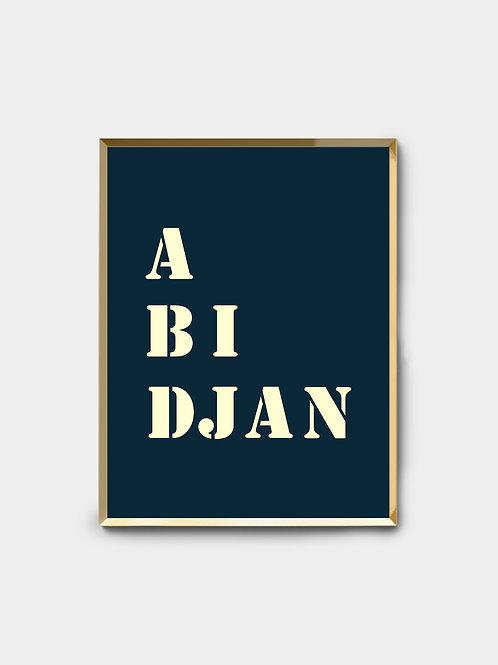 Affiche Abidjan