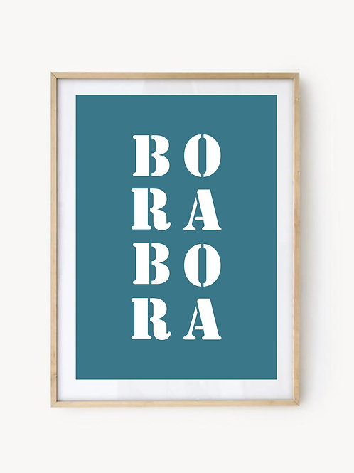Affiche Bora-Bora