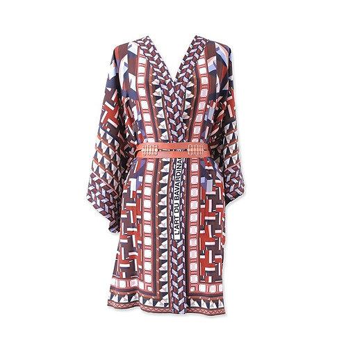 "Kimono en soie ""L'Art du Bavardinage"""