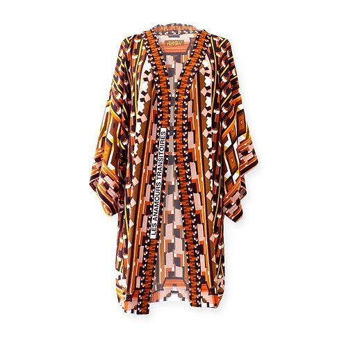 """Kimono en soie """"Les Anamours transitoires"""""""