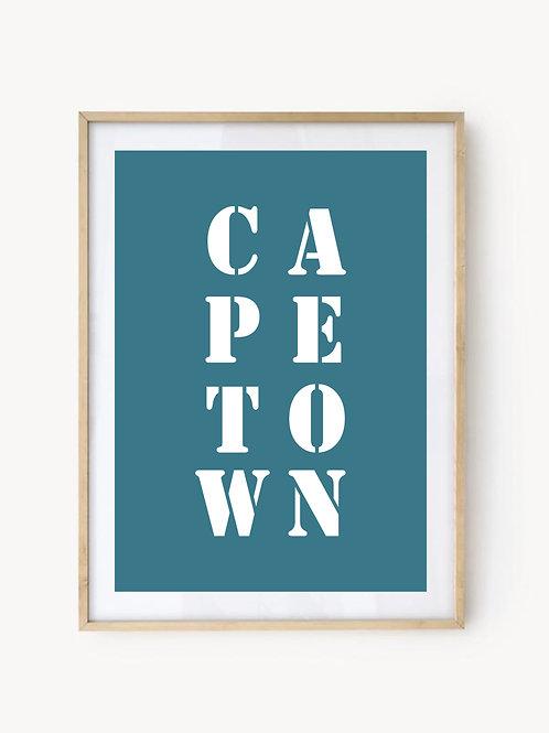 Affiche Cap Town