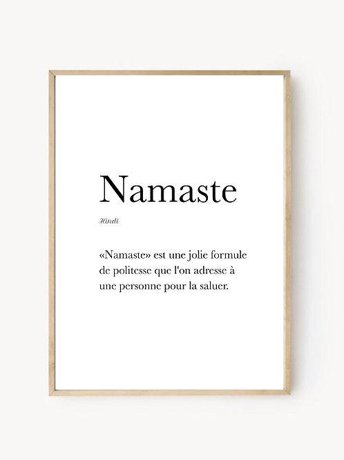 Affiche Namaste