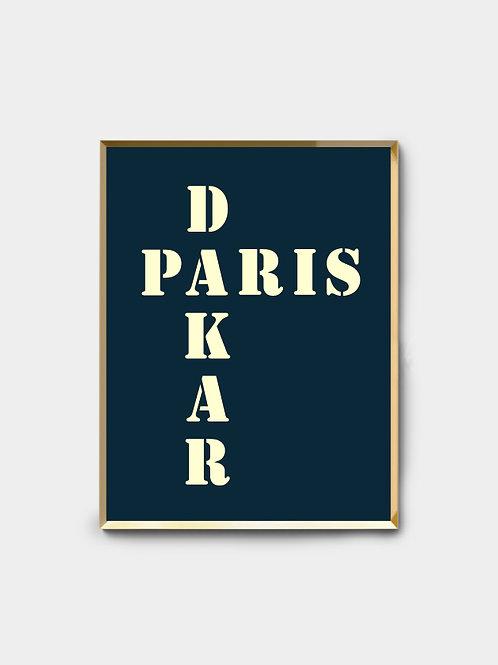 Affiche Paris Dakar
