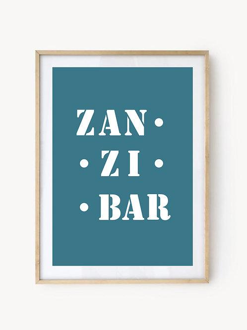 Affiche Zanzibar