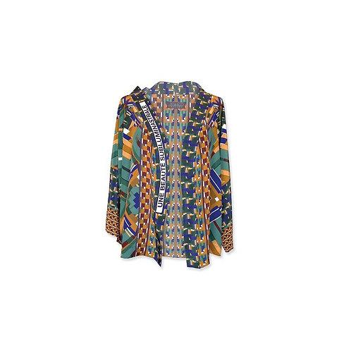 """Kimono court en soie """"Une beauté Subluminastrale"""""""
