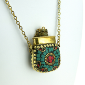 Collier fiole indienne