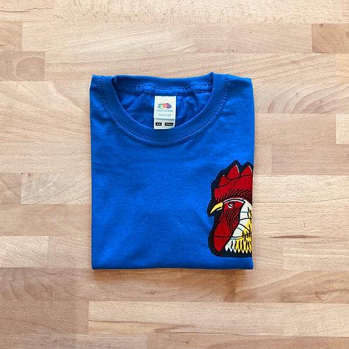 """T-shirt enfant bleu """"Coq"""""""