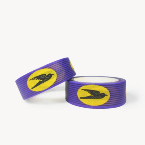 """Masking Tape wax """"Hirondelles"""" violet"""