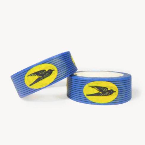 "Masking Tape wax ""Hirondelles"" bleu"