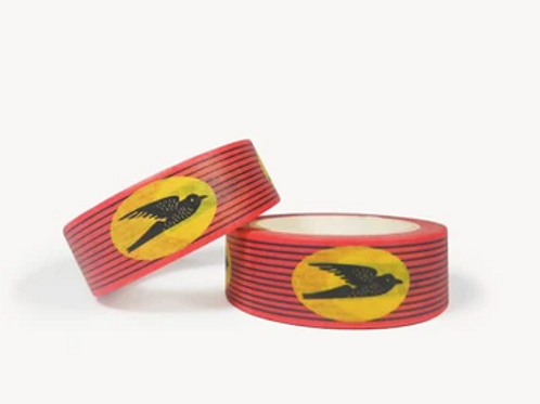 "Masking Tape wax ""Hirondelles"" rouge"