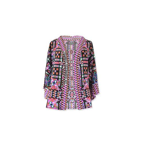 """Kimono court en soie """"Chi Dispezza Compra"""""""