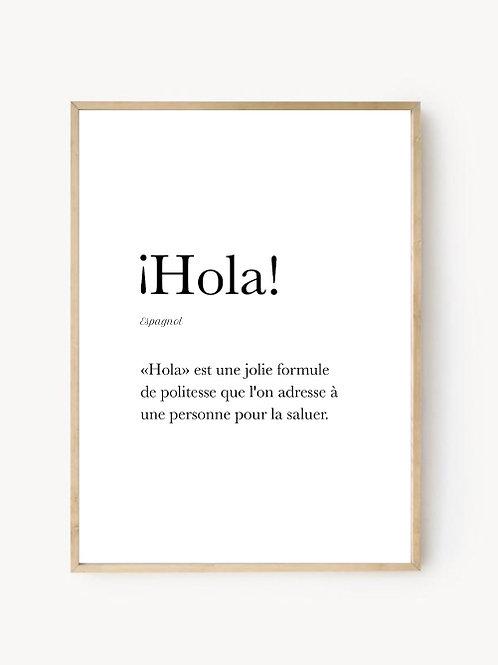 Affiche Holà