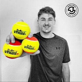 Jannik Spath ist Tennistrainer und Fitnesstrainer und leitet einen Teil des Kinder- und Jugentrainings beim Tennisclub Walferdange.