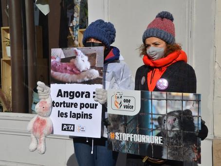 """Action """"Stop angora"""", One Voice à Paris, 13/02/2021"""