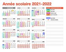 calendrier 2021/2022