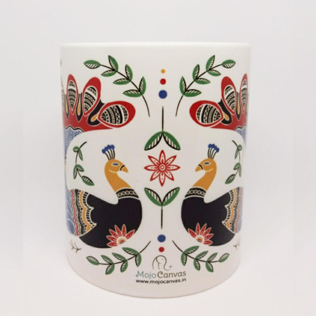 Folk Art Mug White