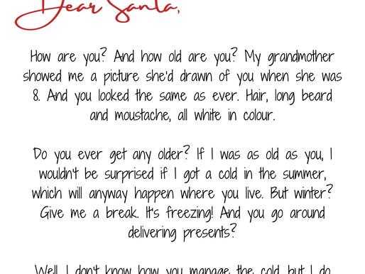 Dear Santa, From Ishita Pal