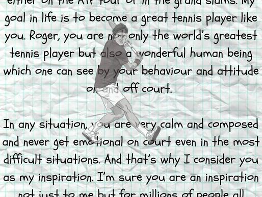 Dear Roger Federer