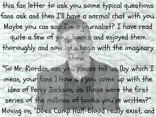 Dear Rick Riordan