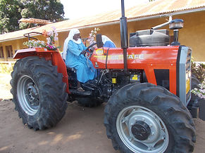 Sister on tractor
