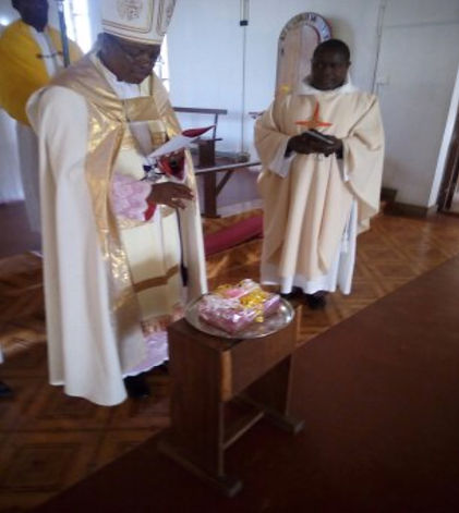 Bishop Dr. James Almasi blessing histori