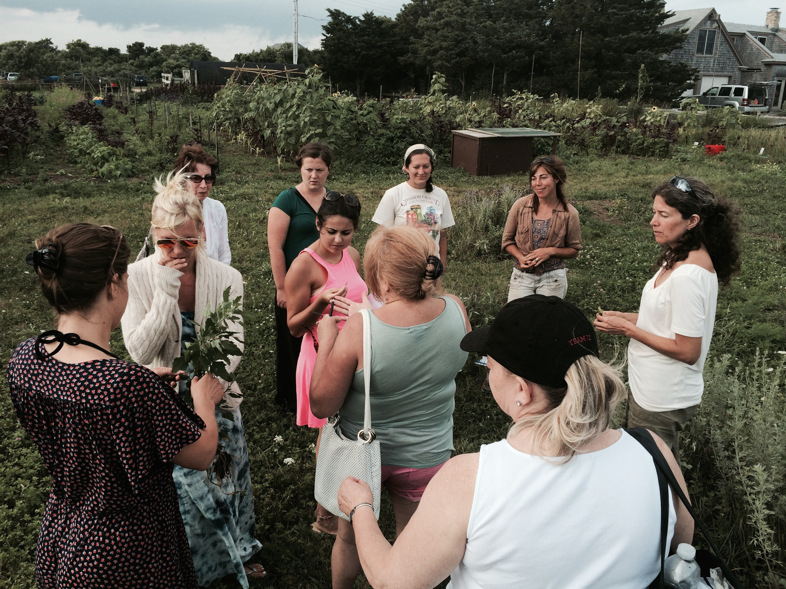 Holly teaching at the Farm Institute