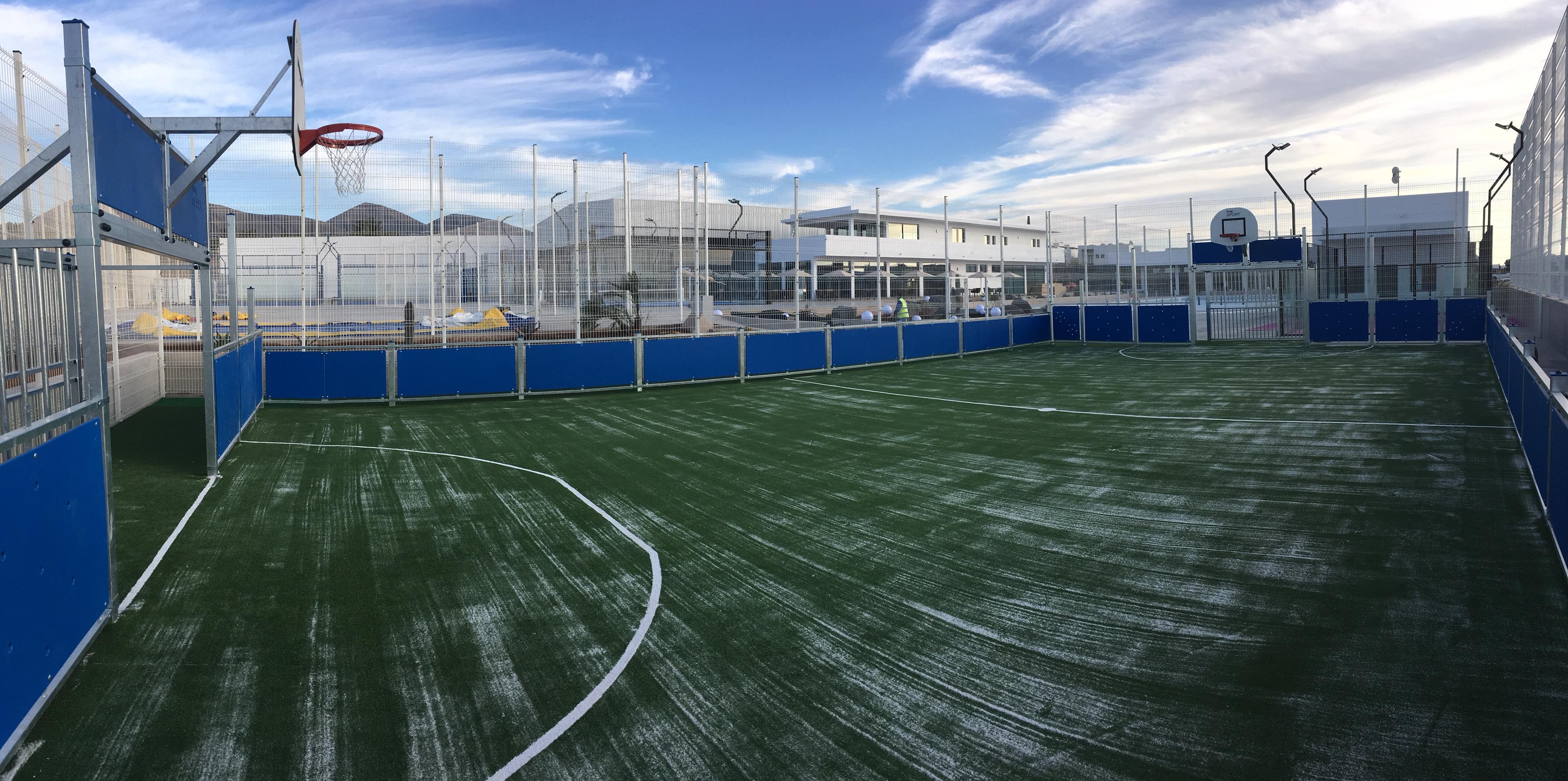 Centro deportivo cancha multideporte