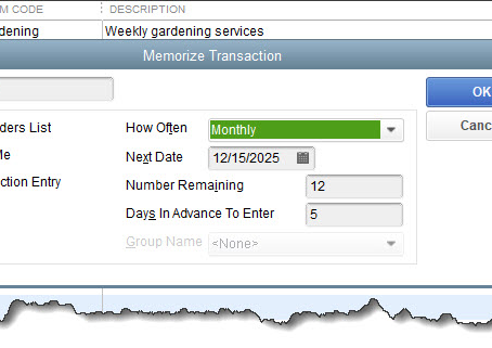 Save Time By Memorizing Transactions in QuickBooks