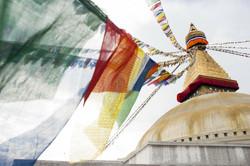 Prayer flags at Boudha Stupa