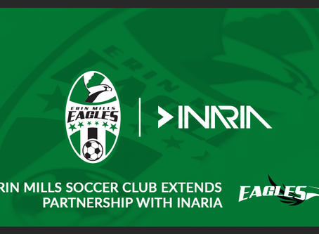 ERIN MILLS SOCCER CLUB EXTENDS PARTNERSHIP WITH INARIA