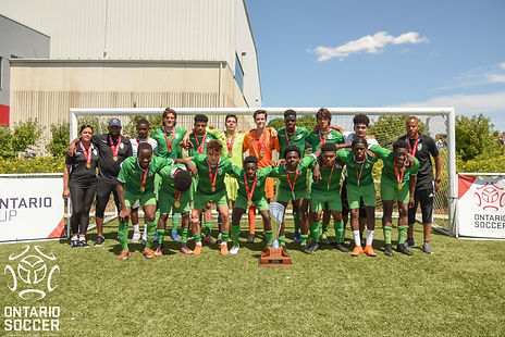 EMSC U18 Boys with the Ontario Cup