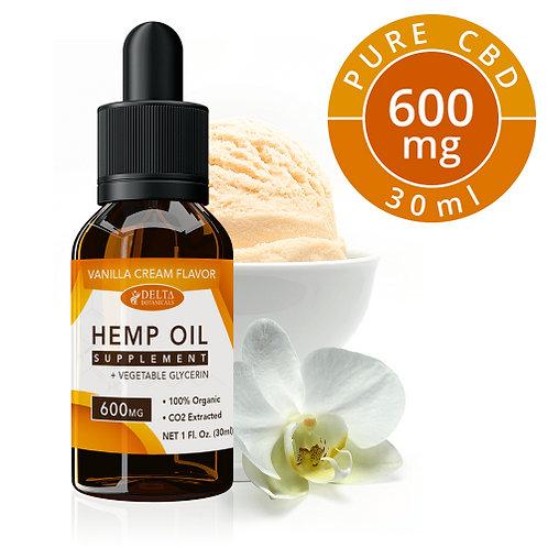 Vanilla Cream CBD E Liquid - 600mg CBD | 30ml Vape Ejuice