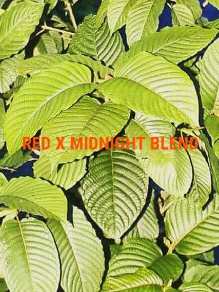 RED X MIDNIGHT BLEND 1 oz (28grams) Kratom Powder (Red/Red/Red)