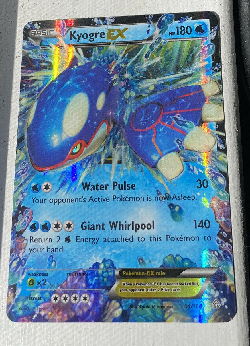 Kyogre EX 54//160 Primal Clash Rare Holo ex Mint Pokemon Card