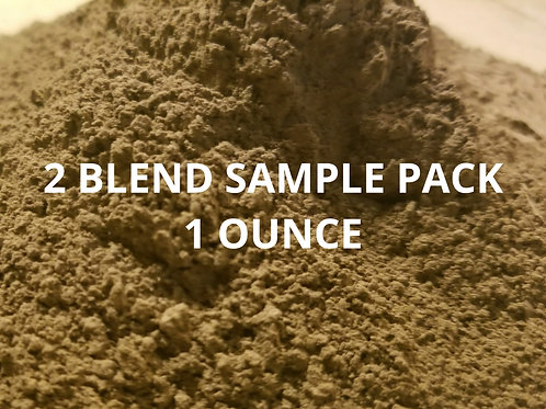 Kratom Powder 2 BLEND SAMPLE PACK 14 g Super Green Frog 14 g Red balanced