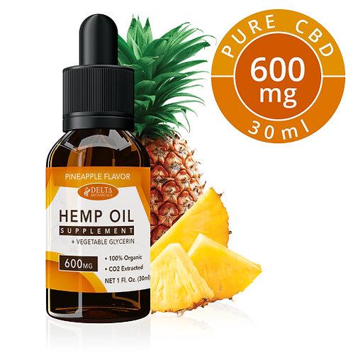Pineapple CBD E Liquid - 600mg CBD | 30ml Vape EJuice