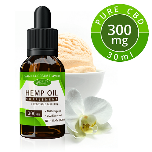 Vanilla Cream CBD E Liquid - 300mg CBD | 30ml Vape Juice